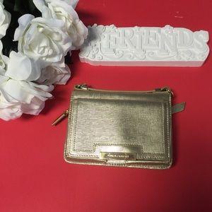 Vince Camuto Metallic Gold Mila Crossbody /Wallet